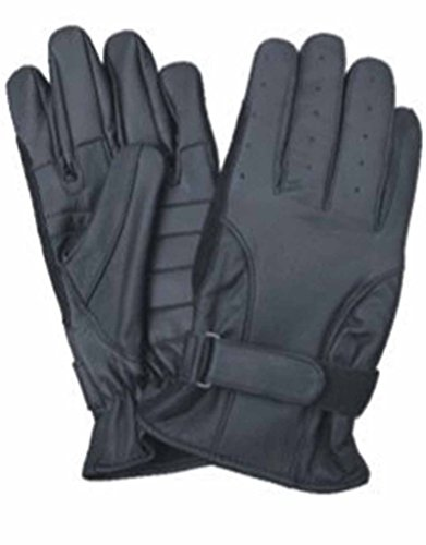 allstate-leather-full-finger-leather-driving-gloves-with-gel-palm-velcro-strap-xl-black