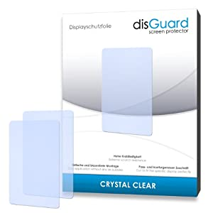2 x disGuard Crystal Clear Screen Protector for Archos 35 Titanium - PREMIUM QUALITY (crystalclear, hard-coated, bubble free application)