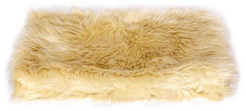 The Dog Squad All Plush Kennel Pet Bed Cover, Caramel Shag