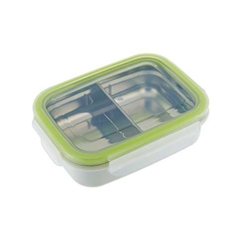 Innobaby Keepin' Fresh Stainless Divided Bento, Green