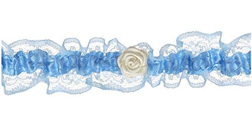 Liga-blanco-azul-con-un-pequeo-Rose-ancho-24-cm-para-la-novia-boda