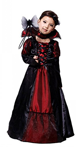 Treasure-box Funny Girls Black and Red Queen Costume Halloween
