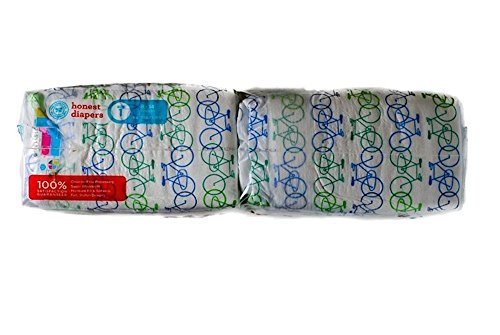 Honest Company Diapers - Size 1 - Bicycle Design 44 count - 1