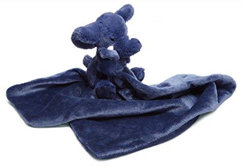 Jellycat® Bashful Dark Blue Elephant Soother Blankie front-776305