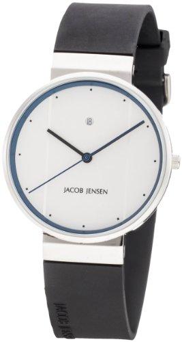 Jacob Jensen - 32750 - Montre Homme - Quartz - Analogique - Bracelet Caoutchouc noir