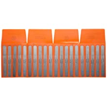 "Precision Brand Steel Thickness Feeler Gage Poc-Kit Assortment, 1/2"" Width, 5"" Length, 20 Blades"