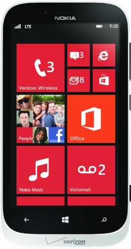 Nokia 822 4G Windows Phone, White (Verizon Wireless)