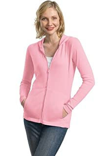 Port Authority Ladies Modern Stretch Cotton Full-Zip Jacket, petal pink, X-Small