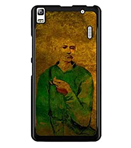 PrintDhaba Man Painting D-3255 Back Case Cover for LENOVO A7000 (Multi-Coloured)
