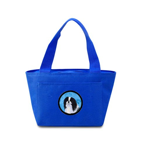 Caroline's Treasures SS4743-BU Japanese Chin Lunch or Doggie Bag, Large, Blue - 1