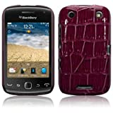 BLACKBERRY CURVE 9380 PURPLE PU LEATHER CROCODILE SKIN HYBRID SNAP CASE / COVER / SHELL / SHIELD PART OF THE QUBITS ACCESSORIES RANGEby Qubits