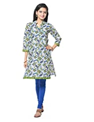 Multi Colored Paisely Printed Cotton Salwar Suit