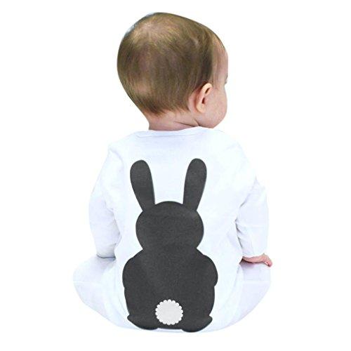 Culater® Neonato ragazze dei neonati svegli di stampa la tuta vestiti lunghi manica (80, Grigio)