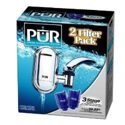 PUR FM-3800 Water Filtration System with 2 Filters and Bonus Water Bottle (Pur Water Filter Water Bottle compare prices)