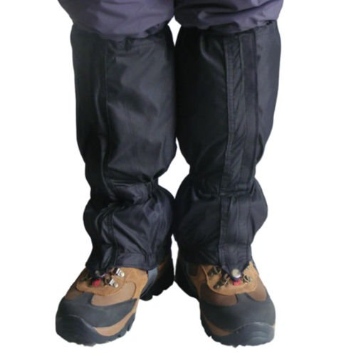 Black Waterproof Hiking Walking Gaiters Rugged Outdoor Hunting Skiing Gaitors