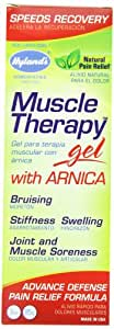 Hyland's Muscle Therapy Gel with Arnica, Natrual Joint and Muscle Soreness Advanced Defense Pain Relief, 3 Ounce (Pack of 6)