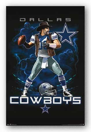 Dallas Cowboys Quarterback Mascot Football Poster at Amazon.com