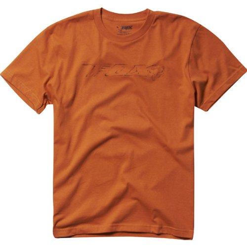 Fox Racing Slick Men's Short-Sleeve Fashion T-Shirt/Tee - Burnt Orange / Large