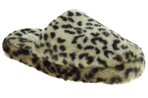 Cheap Capelli New York Leopard Faux Fur Scuff Ladies Indoor Slipper (B00937O3YU)