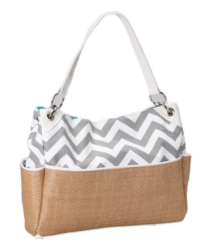 Caught Ya Lookin' Chic Diaper Bag, Gray Chevron