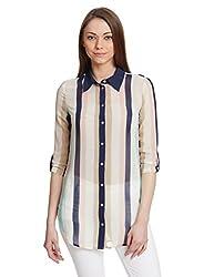 Orous Women's Body Blouse Shirt (AbbieBlouse_Stripe_XL_Multicolor)