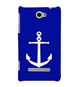 printtech Ship Anchor Back Case Cover for HTC Windows Phone 8S