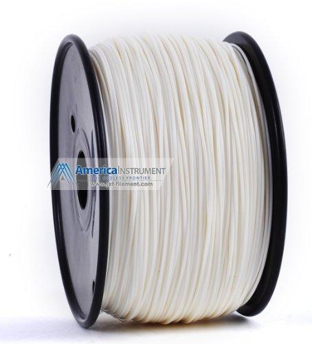 Jet - PLA (1.75mm, White, 1.0kg =2.204lbs) Filament on Spool for 3D Printer MakerBot, RepRap, MakerGear, Ultimaker & Up!
