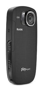 Kodak PlaySport Zx5 Caméscope de poche Port SD/SDHC 5 Mpix Zoom numérique 4x Etanche  Noir