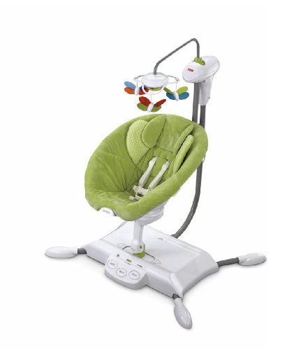 Fisher Price I Glide Cradle N Swing Green