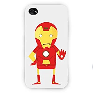 EYP Superheroes Iron Man Back Cover Case for Apple iPhone 4