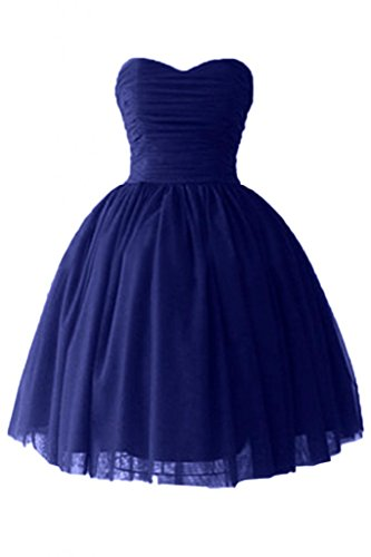 Victoria Dress Ball Gown Sweetheart Cocktail Dresses Satin Homecoming Dresses-8-Royal Blue