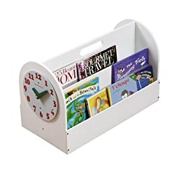 Tidy Books The Original Portable Wooden Kids Book Box and Storage Solution with Removable Play Clock