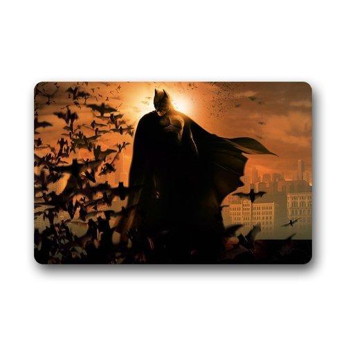 """Resistente al calore non tessuto Top Batman ZERBINO dimensioni 18""""(L) X30(W), circa 46cm (L) x76cm (W), casa e giardino uso esterno interno antiscivolo tappetino"""