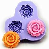 JADE Onlines 2.9cm Flower Fondant Mold Silicone Sugar mini mold Craft Molds DIY Cake Decorating Mold Tray