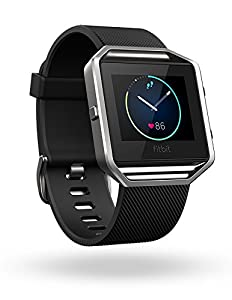 Fitbit Blaze Smart Fitness Watch, Black, Silver, Large