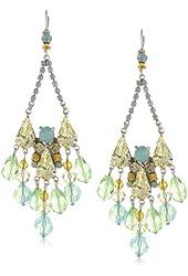"""Sorrelli """"Atlantis"""" Fancy Cut Crystal Chandelier French Wire Drop Earrings"""