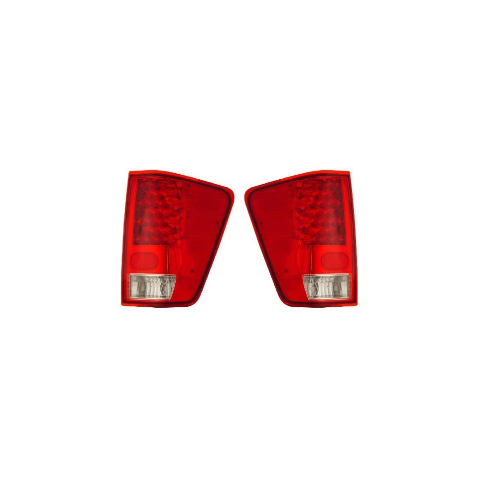 NISSAN TITAN 04 09 LED TAIL LIGHT RED/CLEAR NEW