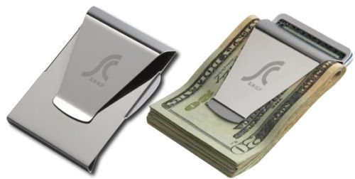 Slim Clip Double Sided Money Clip Credit Card Holder Wallet New Stainless Steel (Tiger Head Bottle Opener compare prices)