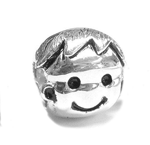 Sterling Silver Cute Baby Boy Kid Bead Charm For European Charm Bracelet Jewelry front-199824