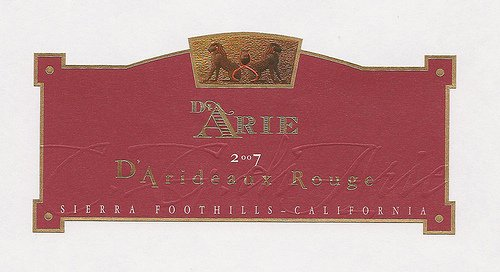 2007 C.G. Di Arie Cellar Select Wines D'Arideaux Rouge 750Ml