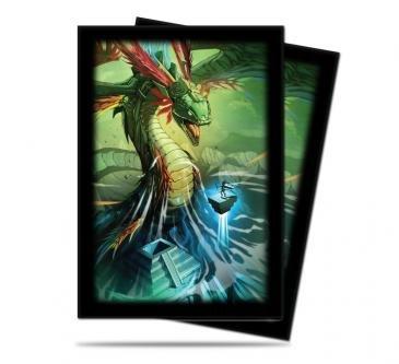 Small Foil Quetzalcoatl Dragon Deck Protectors (60) Ultra Pro - 1