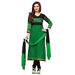 Stylo Fashion Women Cotton Dress Material (Hs-08 _Green _Xx-Large)