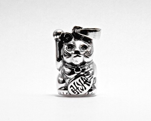 Lucky Mountain Maneki Neko (Lucky Cat) pendant charm