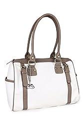 Goldmine Women's Shoulder Bag ( White / Grey )