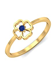 KuberBox 14k Yellow Gold And Blue Sapphire Ring - B00UYGYS0I
