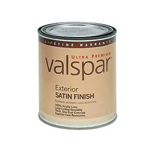 Valspar Ultra Premium 1 Quart Exterior Latex Satin Base 4 Household Paints And Stains