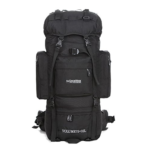 Paladineer Inernal Frame Hiking Backpack and Hiking Daypack and Climbing Camping Outdoor Sports Travel Backpack Bag and Backpack for Travel Hiking Climbing Running Cycling Camping Outdoor Sports 85L Black