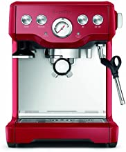 Breville BES840CBXL The Infuser Espresso Machine, Cranberry Red