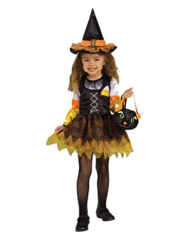 baby-girls - Candy Corn Witch Toddler Costume Halloween Costume