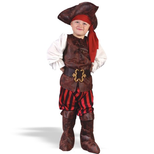 Fun World Costumes Baby Boy's Toddler Boy Highseas Buccaneer Costume, Brown/White, Large
